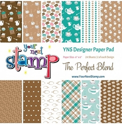 Your Next Stamp - 6x6 Paper Pad - The Perfect Blend