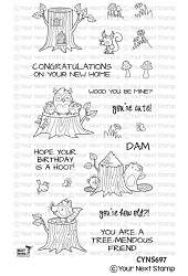 Your Next Stamp - Clear Stamp - Tree-Mendously Cute Critters