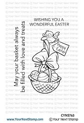 Your Next Stamp - Clear Stamp - Birdie Easter Basket