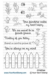 Your Next Stamp - Clear Stamp - Friendship Fence