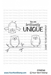 Your Next Stamp - Clear Stamp - Quirky Fun Owls