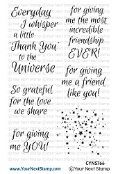 Your Next Stamp - Clear Stamp - Thank You Universe