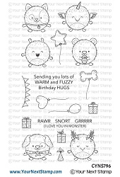Your Next Stamp - Clear Stamp - Fuzzy Monsters