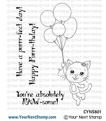 Your Next Stamp - Clear Stamp - Happy Purrr-thday