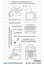 Your Next Stamp - Clear Stamp - Totally Retro
