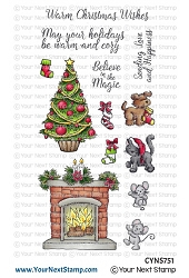 Your Next Stamp - Clear Stamp - Cozy Christmas