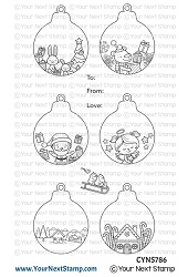 Your Next Stamp - Clear Stamp - Cute Holiday Ornaments