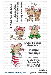 Your Next Stamp - Clear Stamp - Holiday Hugs