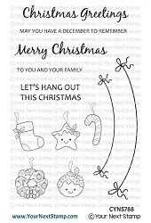 Your Next Stamp - Clear Stamp - Christmas Banner