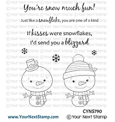 Your Next Stamp - Clear Stamp - Snowflake Kisses