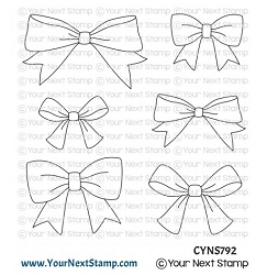 Your Next Stamp - Clear Stamp - Cute Bows