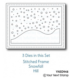 Your Next Stamp - Dies - Stitched Frame with Snow and Hills