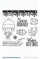 Your Next Stamp - Clear Stamp - Winter Phoebe