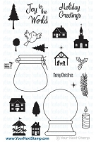 Your Next Stamp - Clear Stamp - Joy To The World Snow Globes