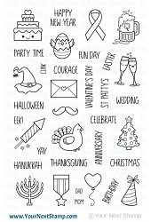 Your Next Stamp - Clear Stamp - Plan the Holidays