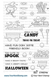 Your Next Stamp - Clear Stamp - Happy Hayrides Halloween