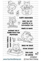 Your Next Stamp - Clear Stamp - Happy Meowoween
