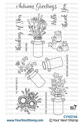 Your Next Stamp - Clear Stamp - Autumn Milk Cans