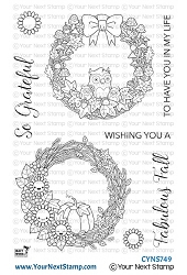 Your Next Stamp - Clear Stamp - Fabulous Fall Wreaths