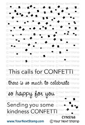 Your Next Stamp - Clear Stamp - Falling Confetti