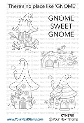 Your Next Stamp - Clear Stamp - Gnome Sweet Gnome