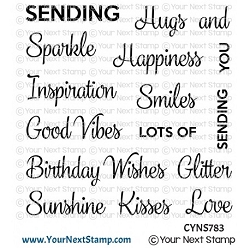 Your Next Stamp - Clear Stamp - Whatnot Sentiments Fourteen