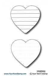 Your Next Stamp - Dies - Rainbow Heart Die Set
