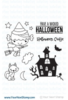 Your Next Stamp - Clear Stamp - Halloween Phoebe
