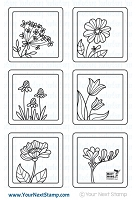 Your Next Stamp - Clear Stamp - Framed Flowers