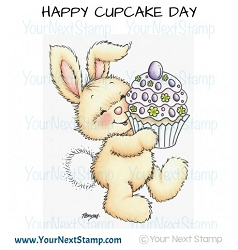Your Next Stamp - Clear Stamp - Yummy Cake Bunny