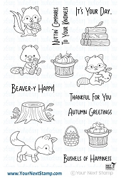 Your Next Stamp - Clear Stamp - Autumn Animals