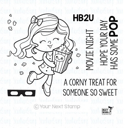 Your Next Stamp - Clear Stamp - Popcorn Party