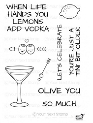 Your Next Stamp - Clear Stamp - Tini Sips
