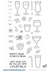 Your Next Stamp - Clear Stamp - Happy Hour