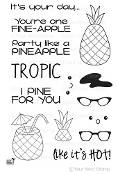 Your Next Stamp - Clear Stamp - Punny Pineapples