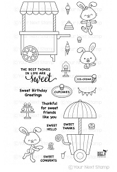 Your Next Stamp - Clear Stamp - Sweet Treat Cart