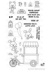 Your Next Stamp - Clear Stamp - Coffee Cart