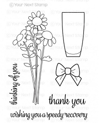 Your Next Stamp - Clear Stamp - Flower Bouquet