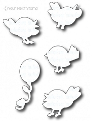Your Next Stamp - Dies - Happy Bird-Day