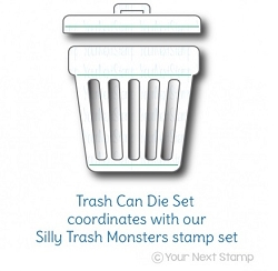 Your Next Stamp - Dies - Trash Can
