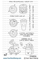 Your Next Stamp - Clear Stamp - Latte Happy Vibes