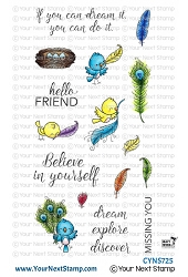 Your Next Stamp - Clear Stamp - Fabulous Feathers