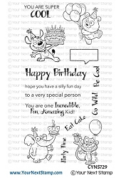 Your Next Stamp - Clear Stamp - Silly Fun Birthday