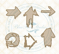 Blue Fern Studios - Chipboard - Splattered Arrows