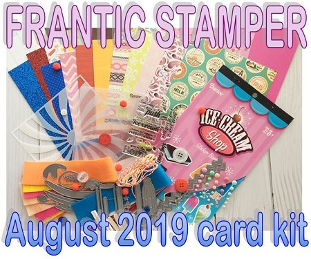 Monthly Card Kit - August 2019 - Ice Cream!!