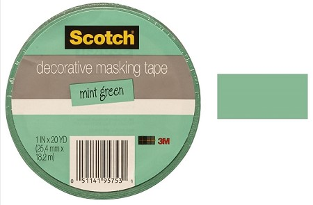 "3M Scotch - Decorative Masking Tape - 1"" x 20 yards - Mint"