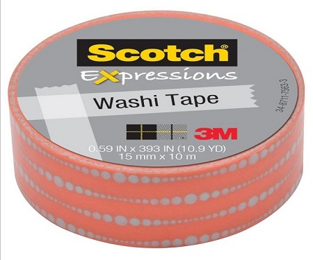 3M Scotch - Expressions Washi Tape - 15mm x 10m - Bubble Dots