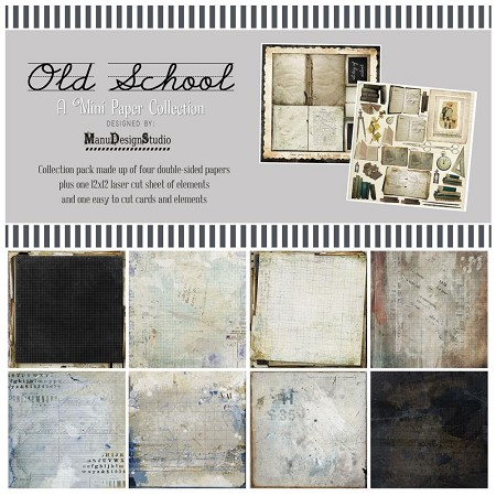 "49 and Market - Old School 12""x12"" Collection Pack"