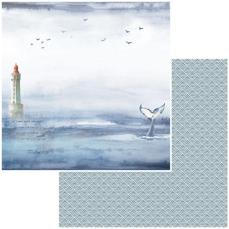"49 and Market - Seaside Whales Tales 12""x12"" Double-Sided Cardstock"