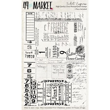 49 and Market - Clear Stamp - Ticket Express